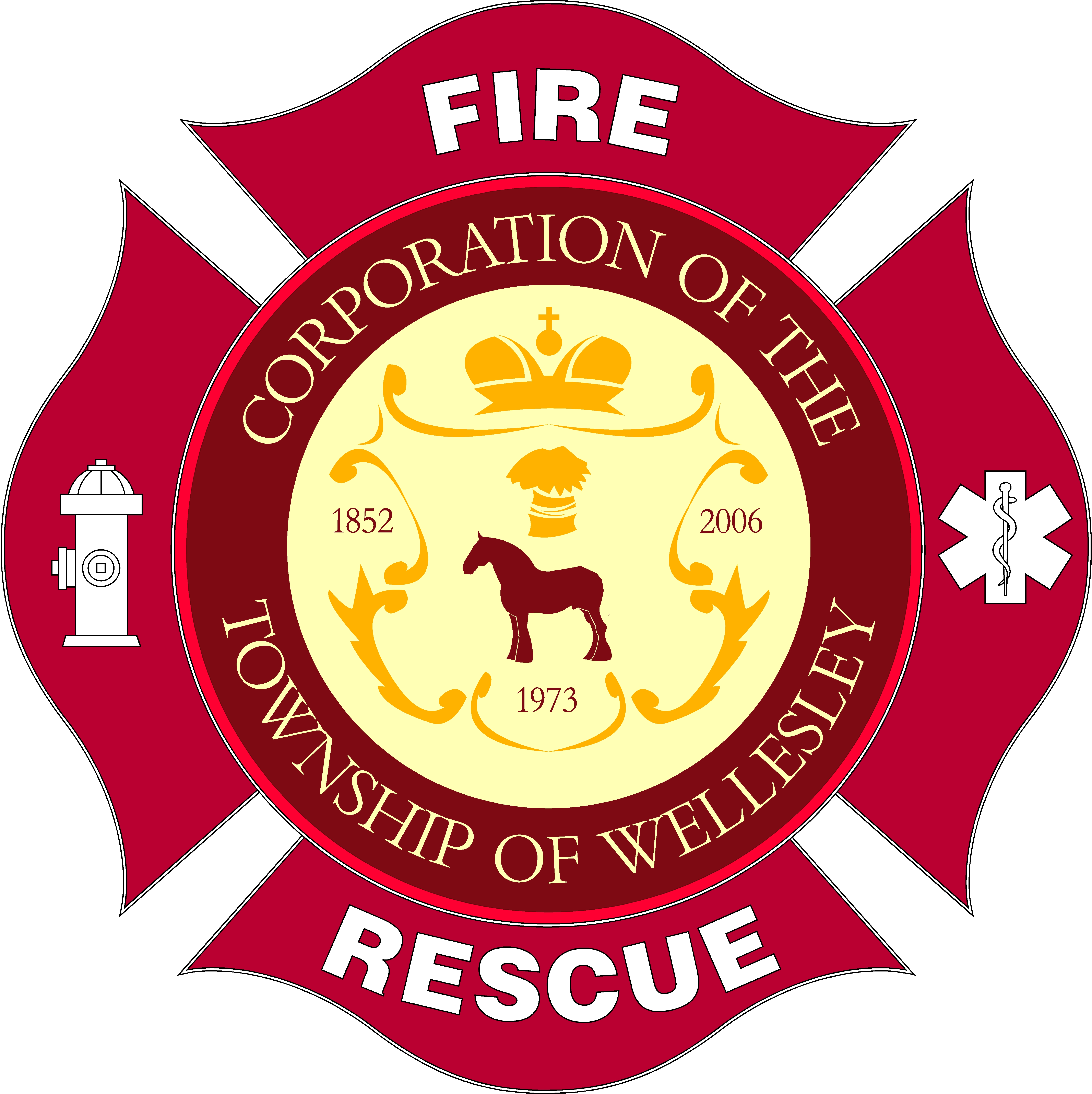 Image of the Wellesley Fire Rescue crest