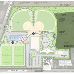 New Community Park Concept Drawing & Fact Sheet